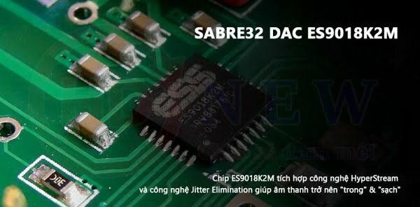 Kết quả hình ảnh cho DAC SABRE32 ES9018K2m