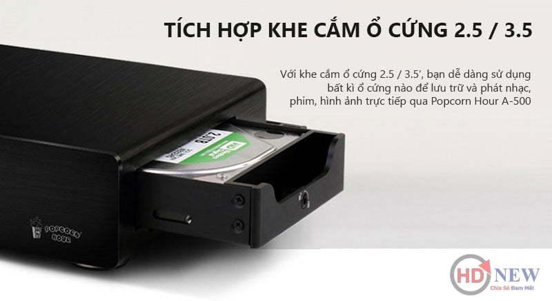 Đầu phát Popcorn Hour A500 - HDnew Hà Nội