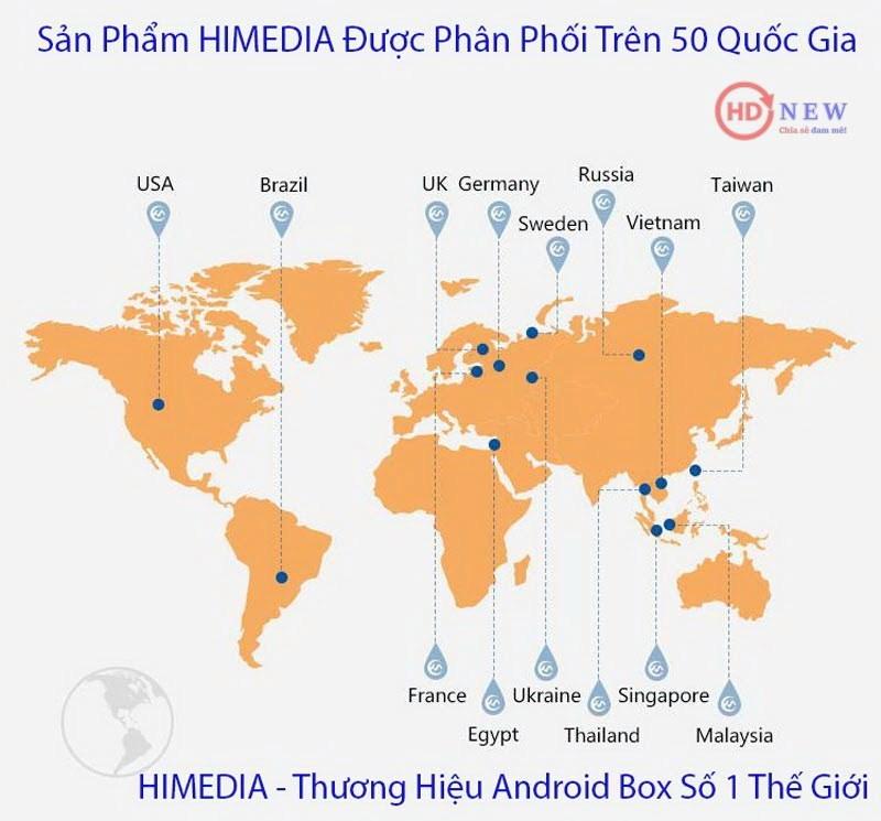 Thị trường phân phối sản phẩm của HiMedia - HDnew Chia sẻ đam mê