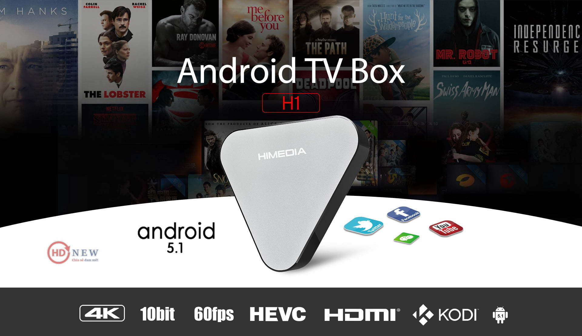 Android TV Box HiMedia H1 - HDnew Hà Nội