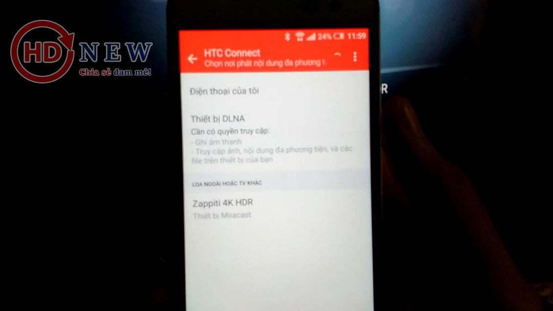 Tính năng Miracast trên đầu phát Zappiti Duo 4K - HDnew Hà Nội