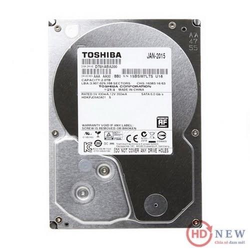 """Ổ cứng HDD Toshiba AV 3.5"""" DT01ABA200V 2TB - HDnew Hà Nội"""