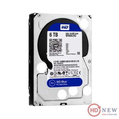 "Ổ cứng HDD Western Digital Caviar Blue 3.5"" WD60EZRZ 6TB - HDnew Hà Nội"