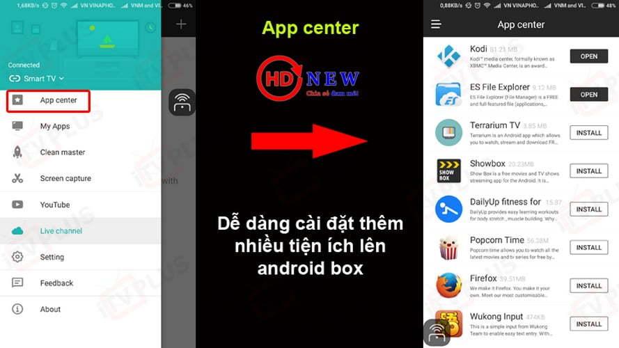 Cetus Play - Phần mềm điều khiển Android TV Box số một hiện nay - HDnew Hà Nội