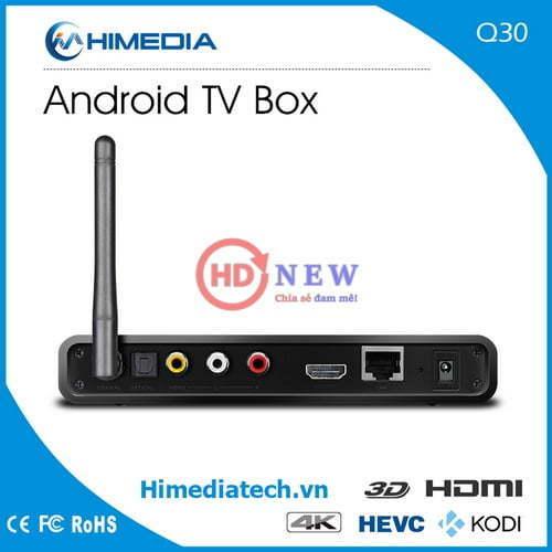 Android TV Box HiMedia Q30 – Quad core CPU, 2GB RAM, Android 7.0 chính hãng giá rẻ tại HDnew