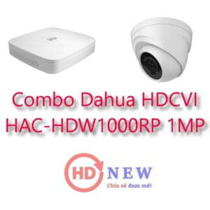 Bộ camera quan sát Dahua HDCVI HAC-HDW1000RP 1MP - HDnew Hà Nội