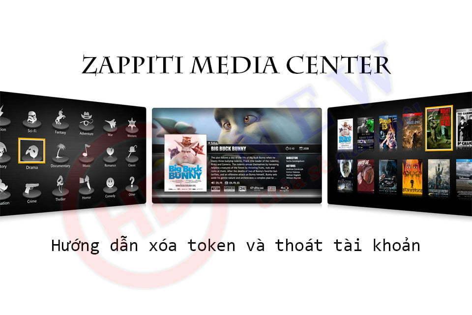 Hướng dẫn xóa token và đăng xuất tài khoản trên Zappiti Media Center - HDnew Hà Nội