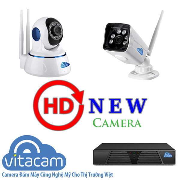 Combo camera Vitacam IP 1MP - HD 720p, hỗ trợ quay quét & đàm thoại hai chiều - HDnew Camera