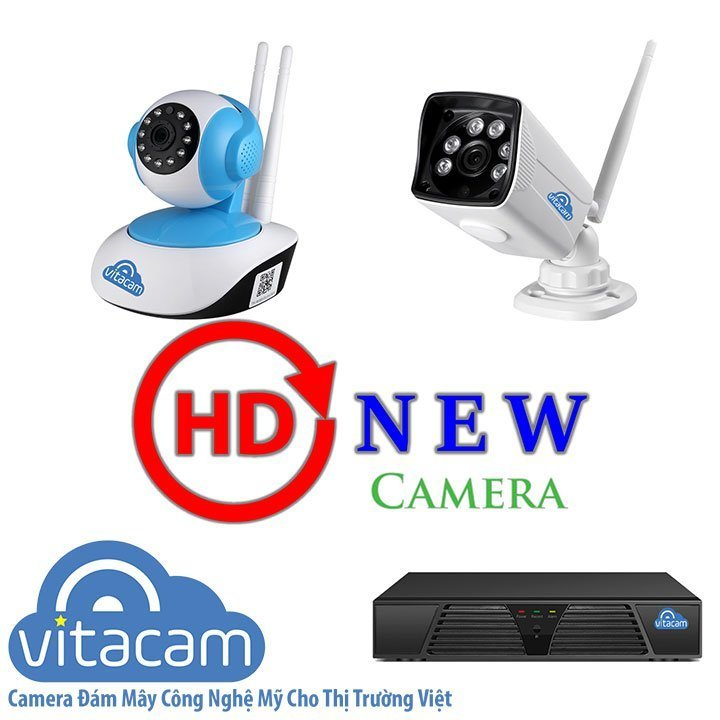 Combo camera Vitacam IP 2MP - HD 1080p, hỗ trợ quay quét & đàm thoại hai chiều - HDnew Camera