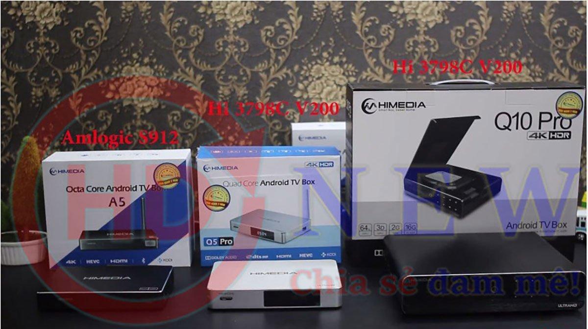 Android TV Box HiMedia A5, Q5 Pro, Q10 Pro - những sản phẩm chủ đạo của thương hiệu HiMedia hiện nay.