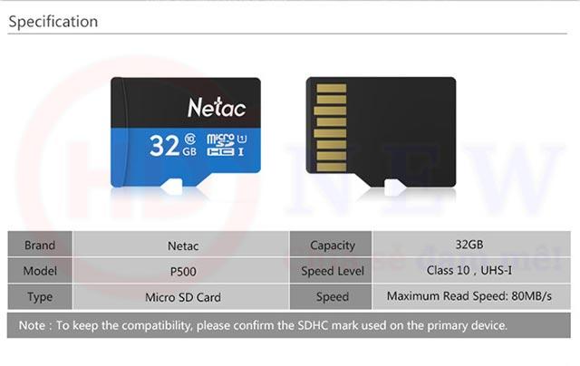 Thẻ nhớ Netac P500 microSDHC 32GB | HDnew - Chia sẻ đam mê