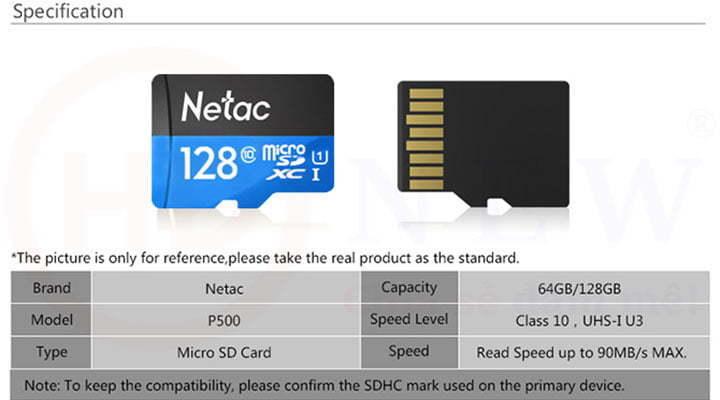 Thẻ nhớ Netac P500 microSDXC 64GB/128GB | HDnew - Chia sẻ đam mê
