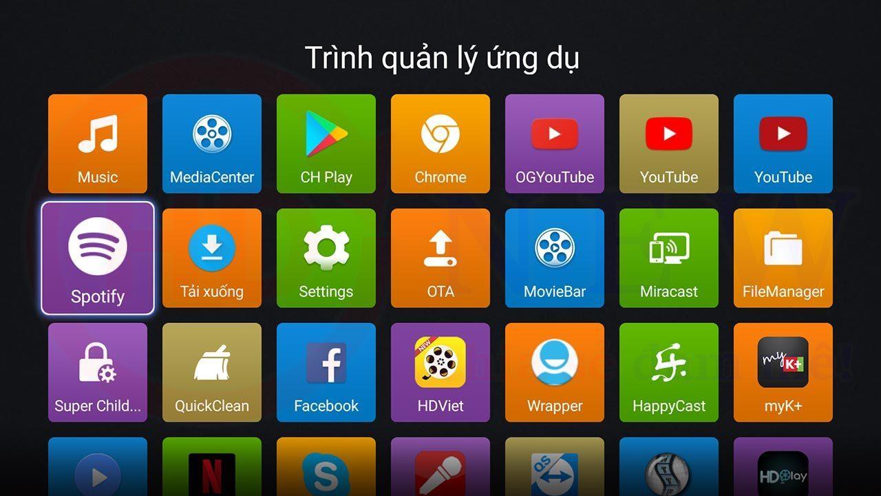 Hướng dẫn cài đặt Spotify cho Android TV Box   HDnew - Chia sẻ đam mê