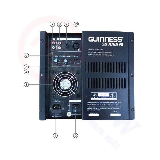 Loa Subwoofer Guinness SB-1800 VII   HDnew - Chia sẻ đam mê