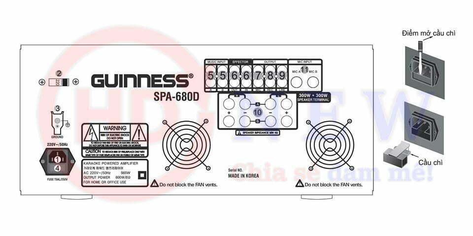 Amply Karaoke Guinness SPA-680D   HDnew - Chia sẻ đam mê