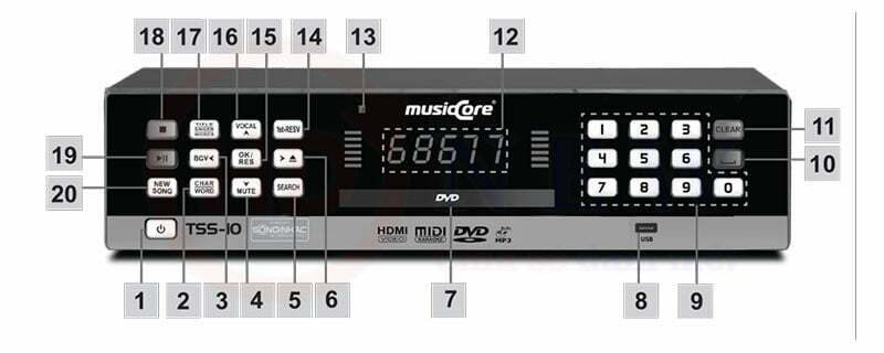 Đầu Karaoke MusicCore TSS-10 Smart | HDnew - Chia sẻ đam mê
