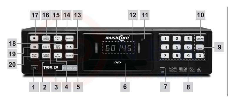 Đầu Karaoke MusicCore TSS-12 | HDnew - Chia sẻ đam mê