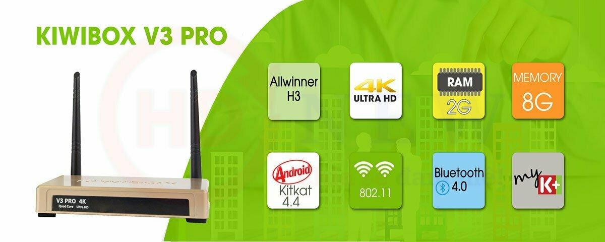 KiwiBox V3 Pro | Android TV Box RAM 2GB | HDnew - Chia sẻ đam mê