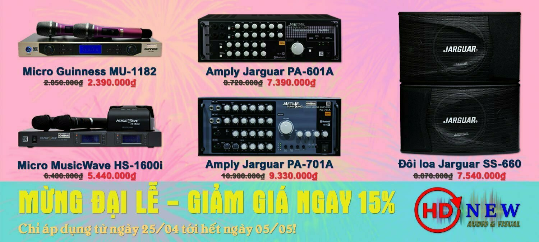 Mừng đại lễ, giảm giá 15% hàng loạt thiết bị âm thanh | HDnew - Chia sẻ đam mê