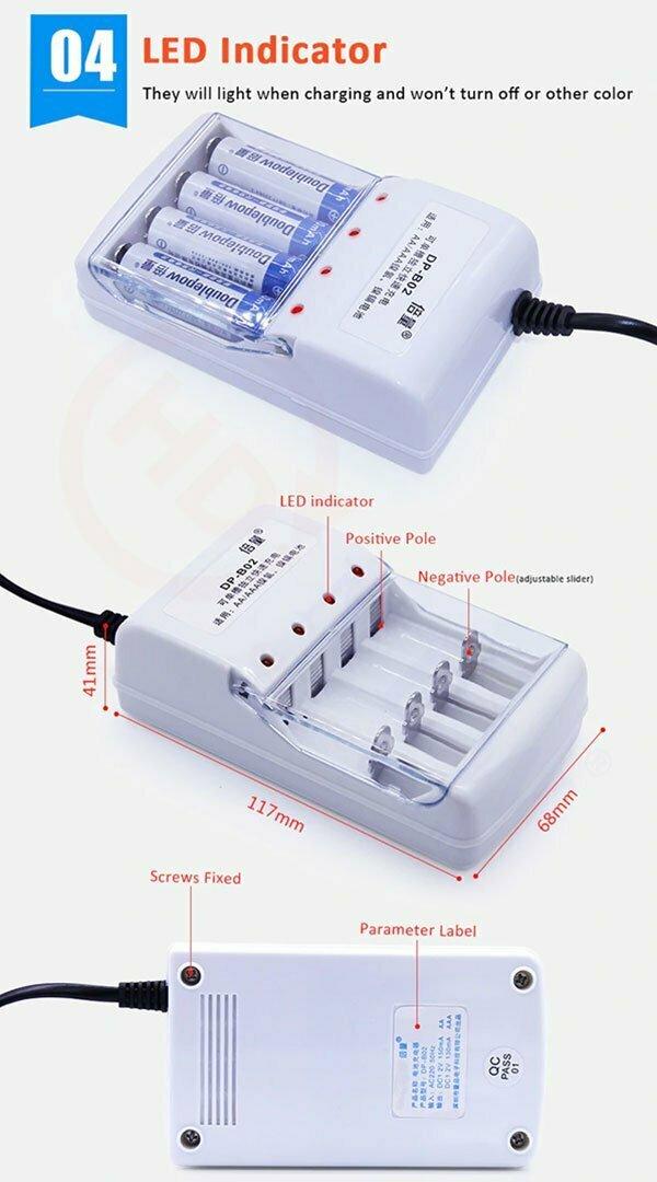 Bộ sạc pin Doublepow DP-B02 | HDnew - Chia sẻ đam mê