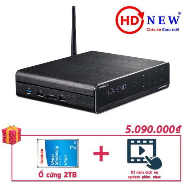 Trọn bộ Đầu HiMedia Q10 Pro và Ổ cứng gắn trong 2TB | HDnew - Chia sẻ đam mê
