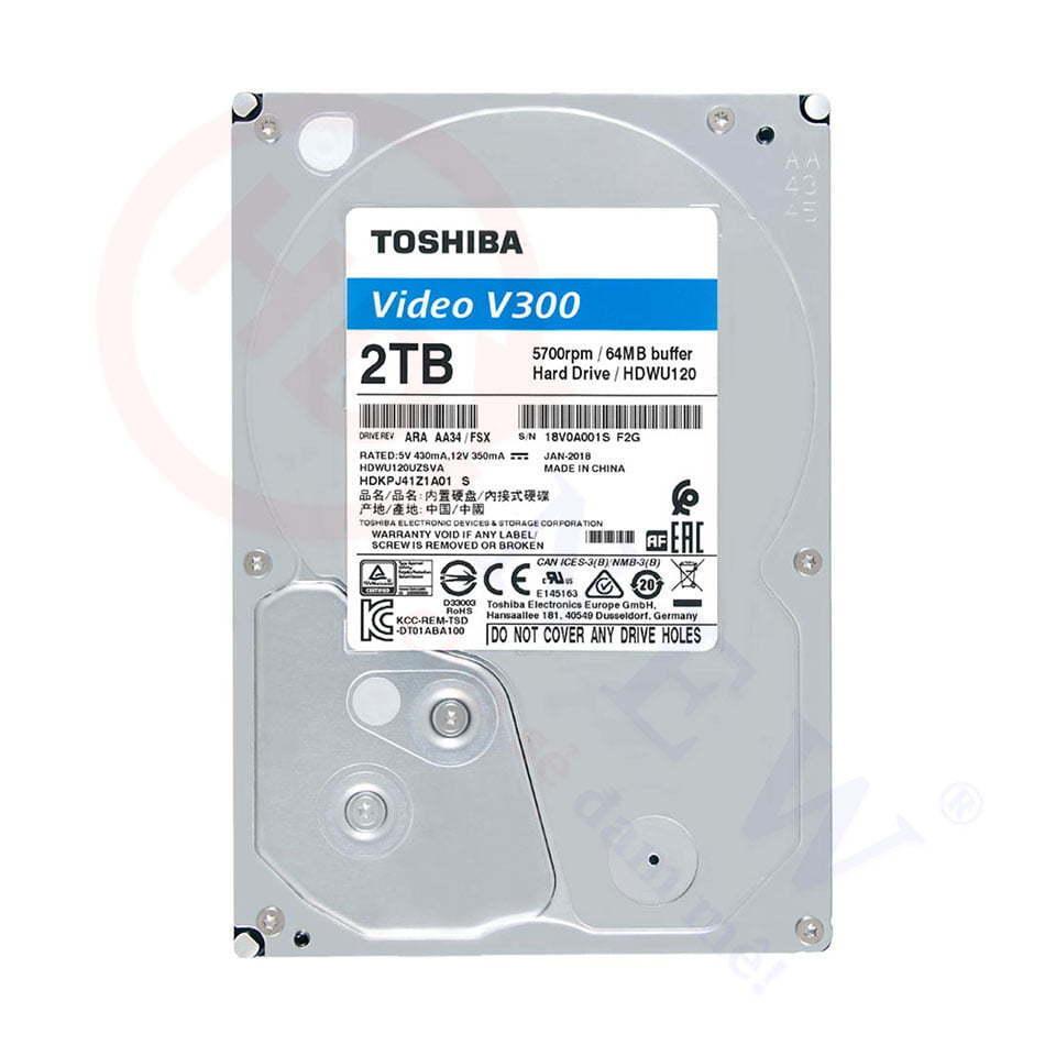 Ổ cứng Toshiba V300 2TB (HDWU120UZSVA)   HDnew - Chia sẻ đam mê