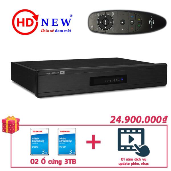 Trọn bộ Đầu Dune HD Max 4K và 02 Ổ cứng gắn trong 3TB | HDnew - Chia sẻ đam mê