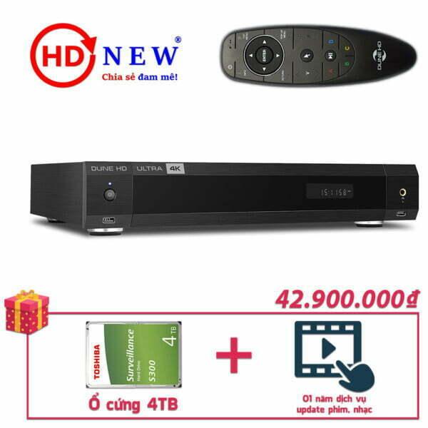 Trọn bộ Đầu Dune HD Ultra 4K và Ổ cứng gắn trong 4TB | HDnew - Chia sẻ đam mê