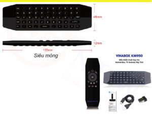 Bàn phím chuột bay tích hợp voice VinaBox KM950V | HDnew - Chia sẻ đam mê