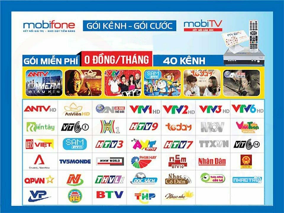 Các kênh trong gói miễn phí truyền hình MobiTV | HDnew - Chia sẻ đam mê
