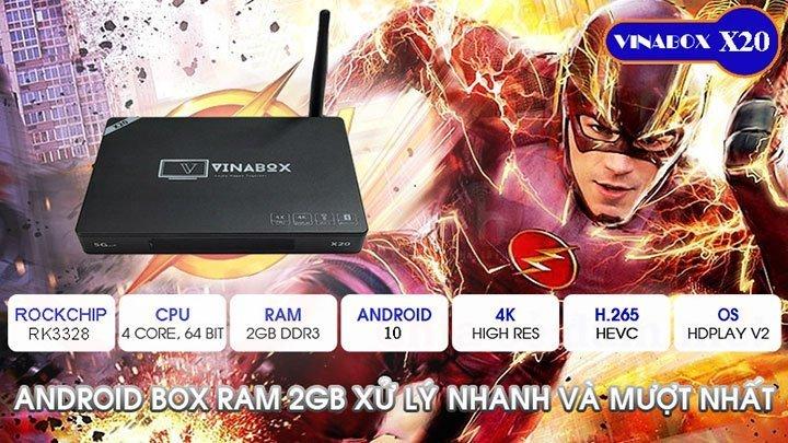 VinaBox X20 - Model VInaBox mới nhất 2020 tích hợp Android 10 & tìm kiếm bằng giọng nói | HDnew - Chia sẻ đam mê