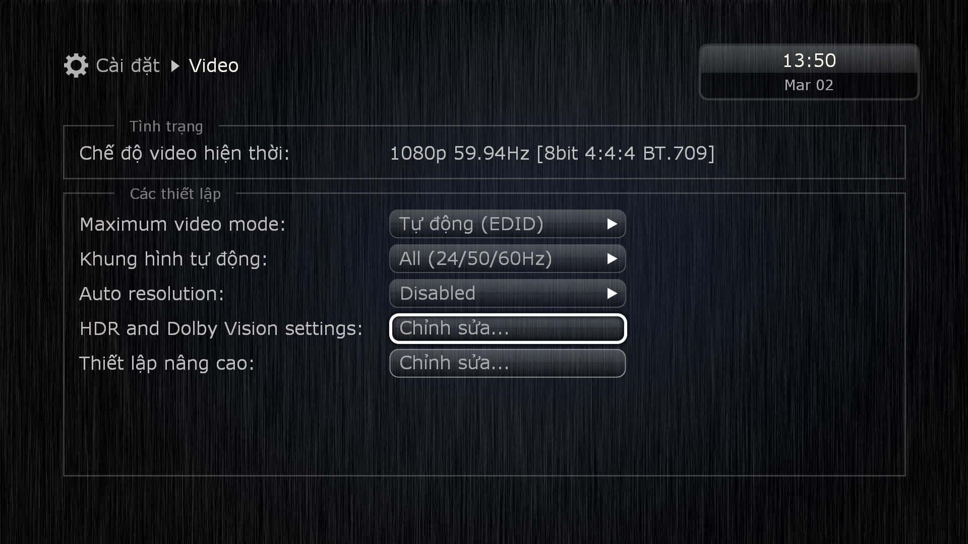 Tùy chỉnh chế độ HDR / Dolby Vision trên Dune HD Pro Vision 4K Solo | HDnew - Chia sẻ đam mê