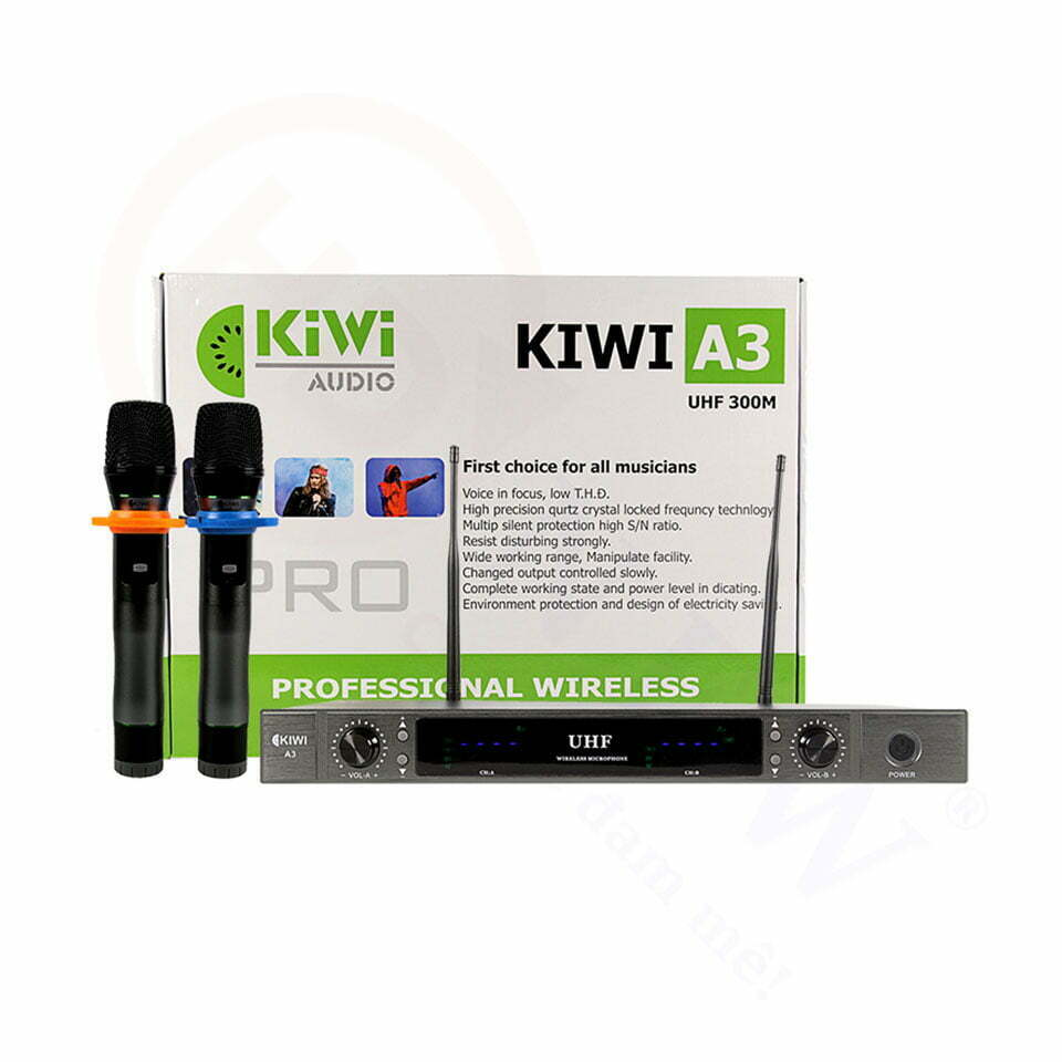 Kiwi A3 | Micro không dây giá rẻ, hát cực hay | HDnew - Chia sẻ đam mê