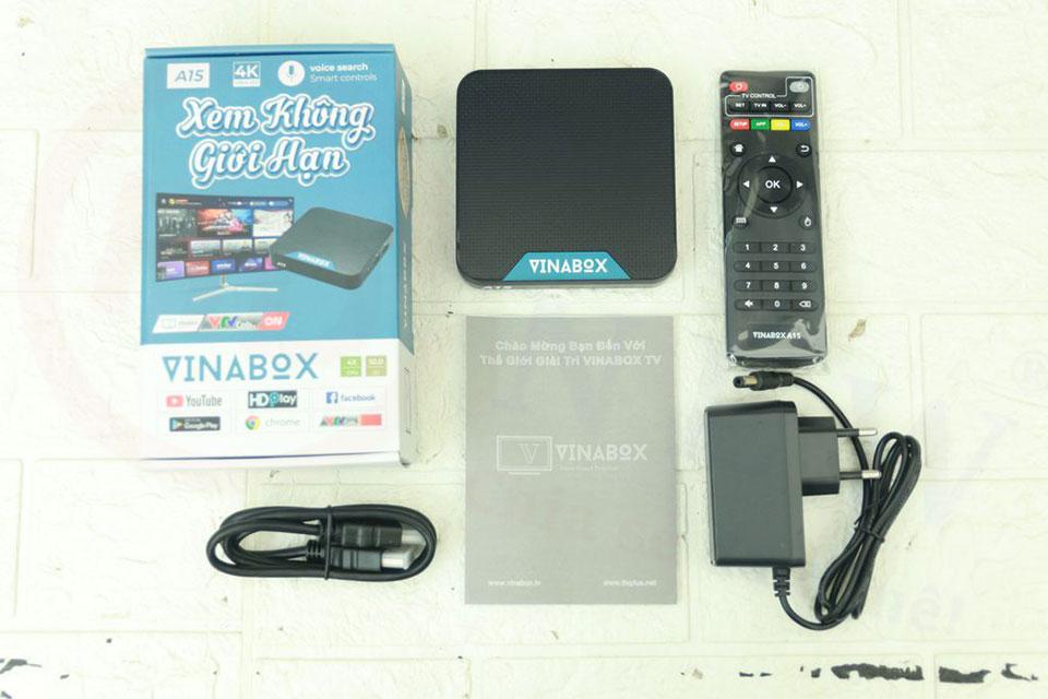 VinaBox A15B   Phiên bản mới 2021 với Android TV 10 OS   HDnew - Chia sẻ đam mê