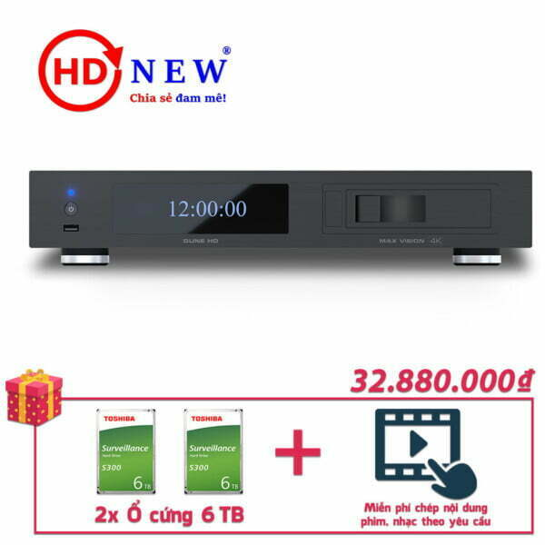 Trọn bộ Đầu Dune HD Max Vision 4K và 2 Ổ cứng Toshiba S300 6TB | HDnew - Chia sẻ đam mê