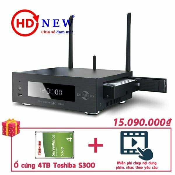Trọn bộ Đầu Dune HD Pro Vision 4K Solo và Ổ cứng Toshiba S300 4TB | HDnew - Chia sẻ đam mê