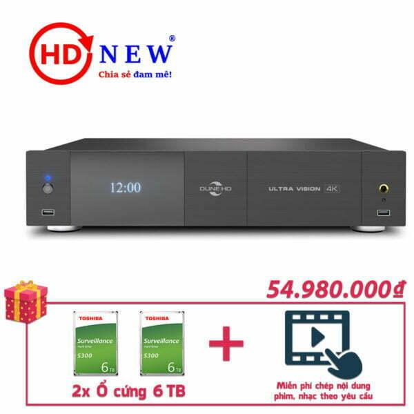 Trọn bộ Đầu Dune HD Ultra Vision 4K và 2 Ổ cứng Toshiba S300 6TB | HDnew - Chia sẻ đam mê