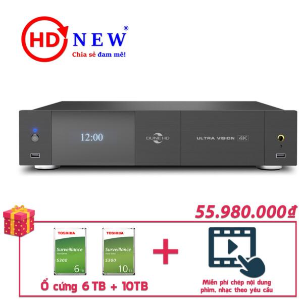 Trọn bộ Đầu Dune HD Ultra Vision 4K và Ổ cứng Toshiba S300 6TB + 10TB | HDnew - Chia sẻ đam mê